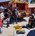 Bomberos de Andacollo y Teck CDA refuerzan labor preventiva con feria de seguridad